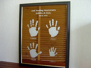 結婚10周年の記念品用の鏡・ミラー