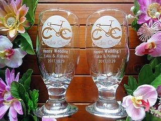 結婚祝いのプレゼント用の名入れグラス