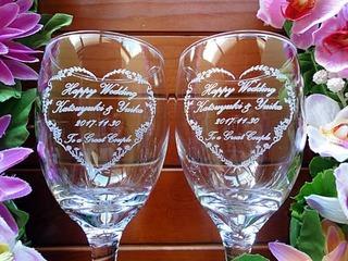 結婚祝い用のペアグラス