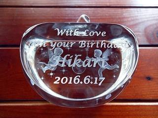 奥さまへの誕生日プレゼント用のガラスのオブジェ